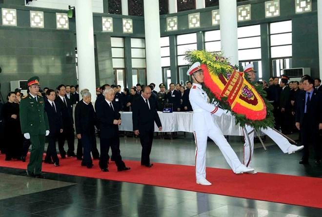 越南为已故国家主席陈大光举行国葬 全国禁娱两日