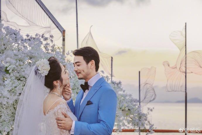 杨烁王黎雯婚礼温馨浪漫