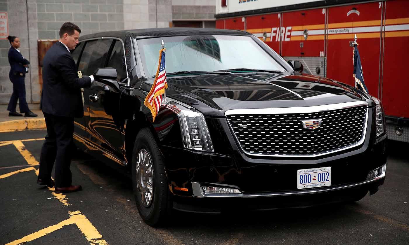 特朗普全新凯迪拉克总统座驾首次亮相