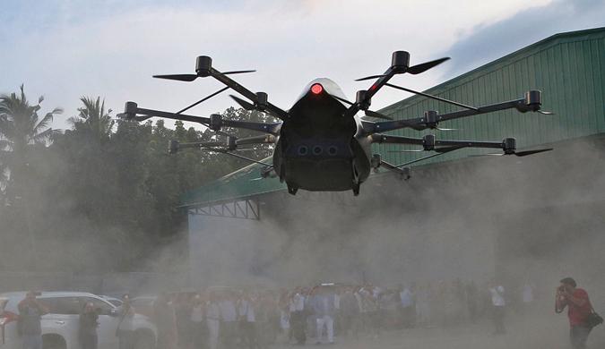 菲律宾奇人造飞行汽车酷似无人机 已成功试飞