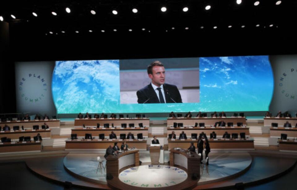 """联合国将授予法国总统马克龙""""地球捍卫者""""称号"""