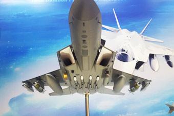 韩国展出最新五代机模型 无内置弹舱导弹全外露