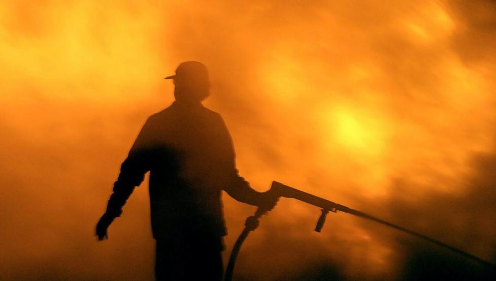 希腊两地发生山林火情 其中一地火势因强风迅速蔓延