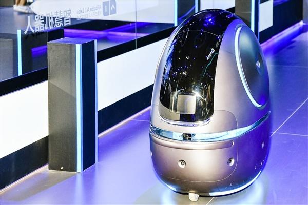 """阿里巴巴AI实验室发布酒店服务机器人""""太空蛋"""""""