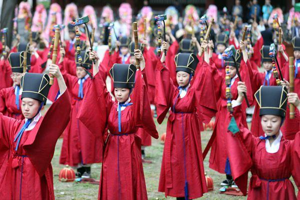 韩国成均馆举行祭礼仪式 纪念孔子诞辰2569周年