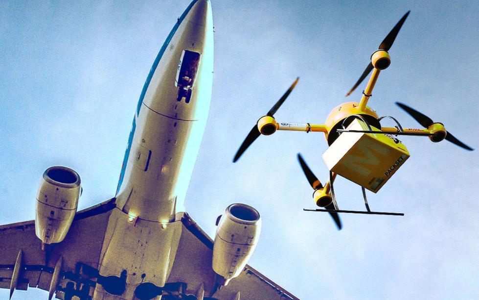 """航班即将降落时 无人机与客机危险""""擦肩"""""""