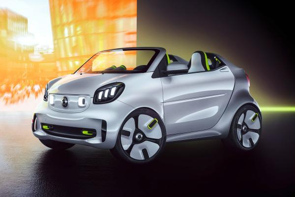 Smart ForEase纯电动概念车将亮相巴黎车展