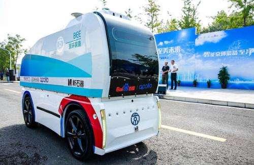 北京环卫推出7款无人驾驶作业车 一车顶20环卫工