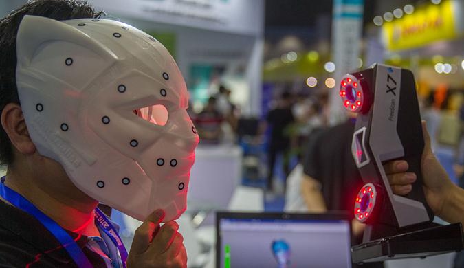 扫描即可打印黑豹面具 潮爆黑科技亮相广州3D打印展