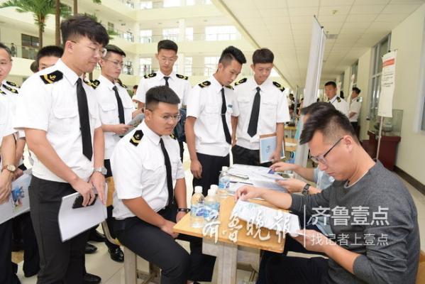 1个港湾职院生有9个岗位挑 98%航海类学生被预订