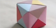1分钟教你折一个五彩缤纷的小礼物盒