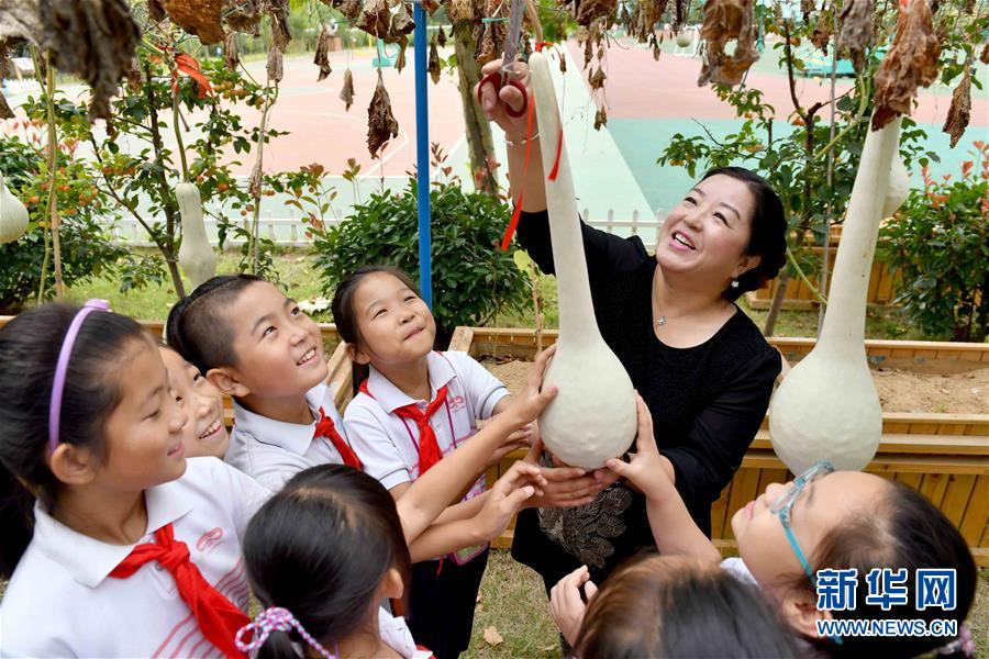 山东威海:校园葫芦传承传统文化