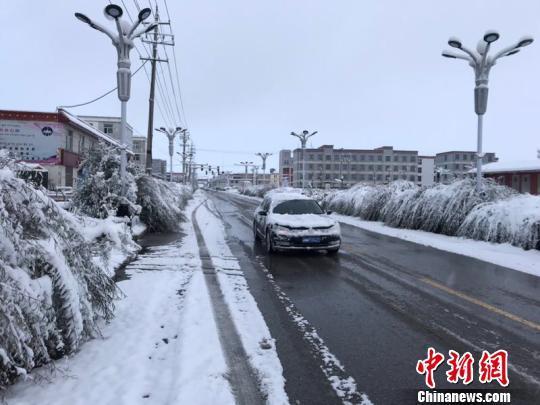 青海天峻降暴雪 降雪深度达16厘米