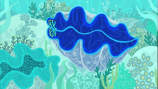 潜水者发现神秘发光巨蛤 听说有拯救地球的潜力?