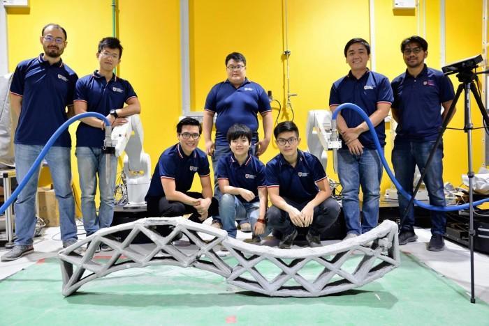 新加坡打造出混凝结构3D打印可移动机器人