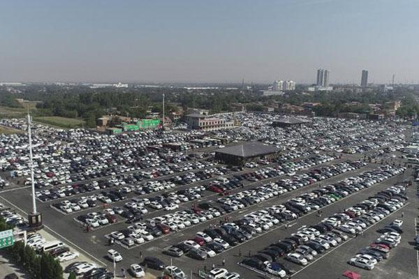兵马俑景区涌入9万游客 停车场如马赛克