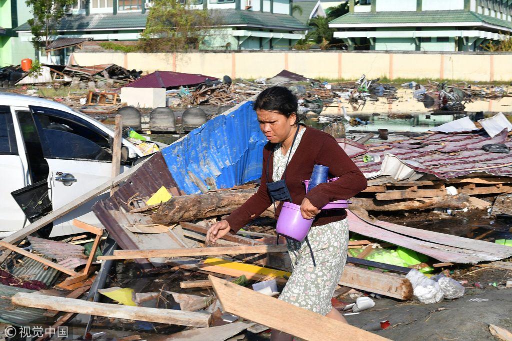 印尼地震海啸遇难人数升至1424人