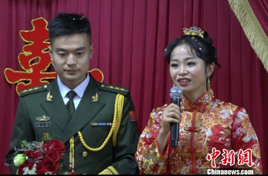 国庆执勤战备新郎将失约婚礼 警营中办特殊婚礼