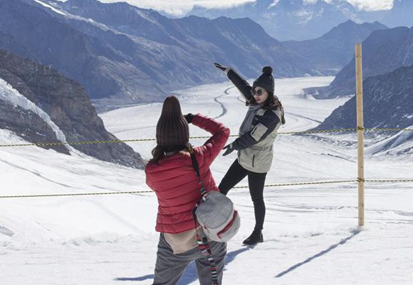 瑞士景区迎来中国黄金周游客