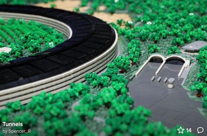 乐高搭建的Apple Park欣赏:耗时2年、细节惊人