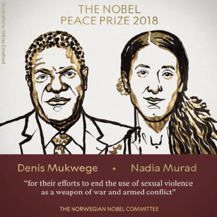 刚果医生和伊拉克少女获2018诺