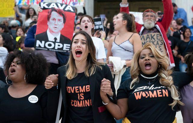 性丑闻主角卡瓦诺成为美国大法官 特朗普开心、民众示威