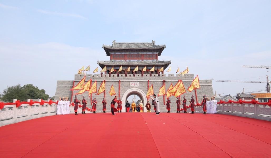 国庆黄金周期间 无棣古城南城门这里上演隆重的开城门仪式