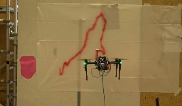 迪士尼研发自主涂鸦无人机 可自行装饰墙壁