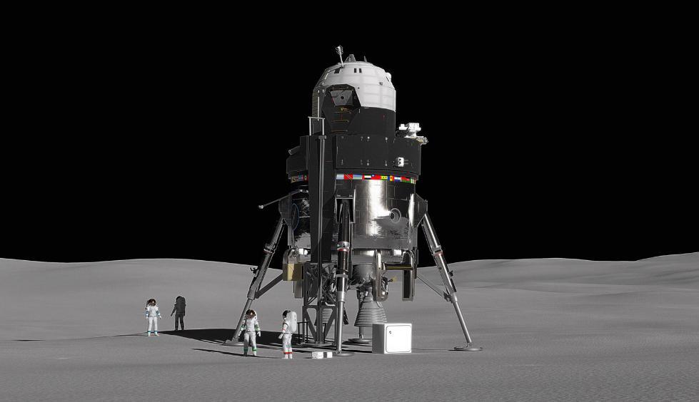洛马概念登月舱可运送4名宇航员 实现重复使用