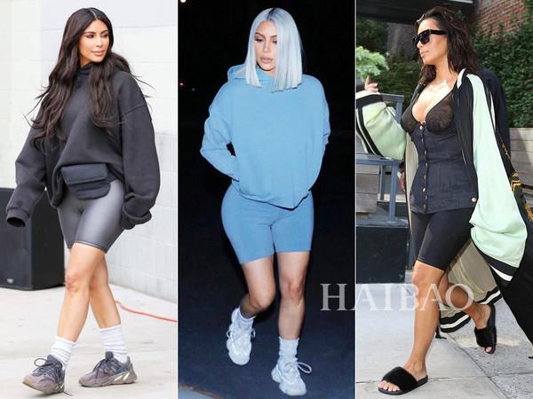 卡戴珊姐妹影响了世界潮流?被吐槽了一整夏的自行车短裤配西装穿竟成了今秋最IN搭配!