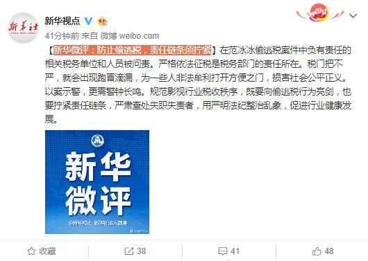 新华微评:防止偷逃税,责任链条须拧紧