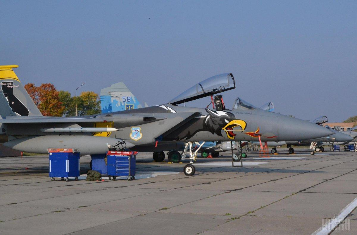 乌克兰北约展开大规模空中演习 美军出动F-15C