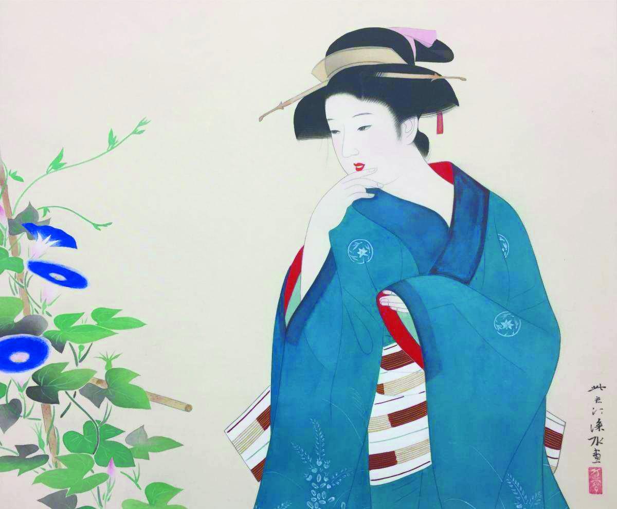 """日本女孩穿""""朝颜""""祈求爱情"""