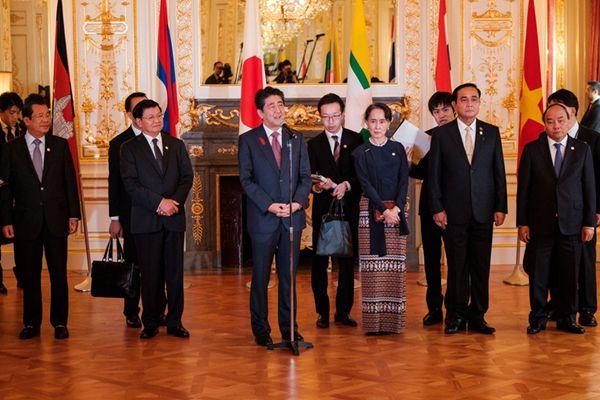 """第10届""""日本与湄公河流域国家峰会""""召开 各国领导人出席"""