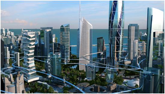 世界顶级建筑大师畅想未来城市:立体交通解决拥堵