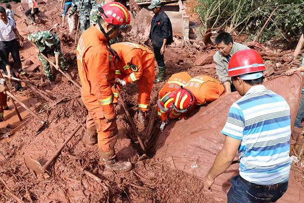 云南墨江突发山洪一民房被埋 已致1人死亡3人失联