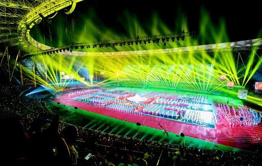 湖北省第十五届运动会开幕 约16000人参赛