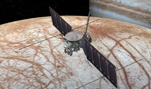 未来探测器可能降落在木卫二上探索锯齿状的冰原