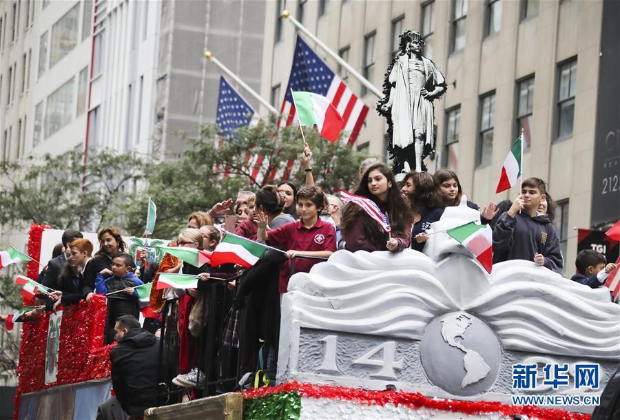 纽约举行哥伦布日游行