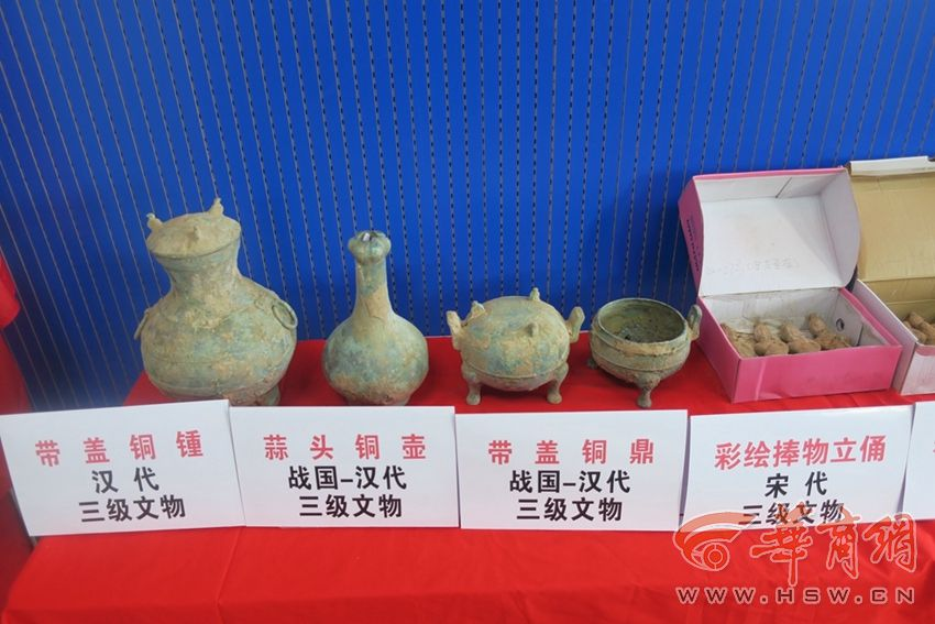 延安富县警方破获一起特大盗掘古墓葬案 8名嫌疑人作案16次
