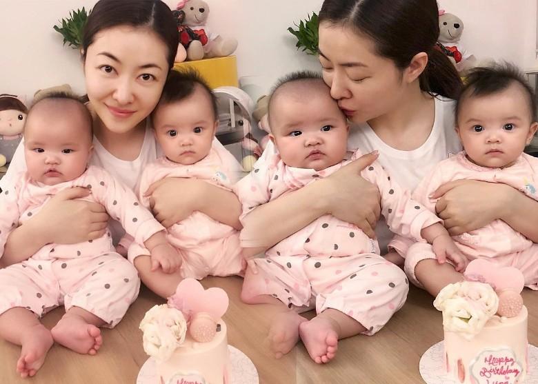 熊黛林38岁生日晒女儿 亲昵搂双胞胎超幸福