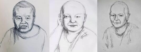 高二女生为癌症病人画画,却没想到