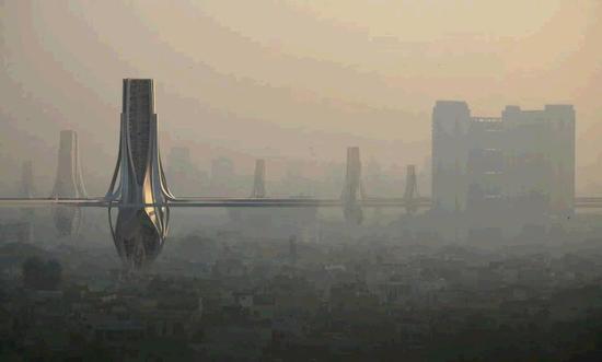 迪拜拟造巨型除霾塔 每天污染320万立方米氛围