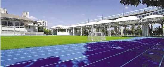杭城学校操场纷纷换上蓝跑道,学校:颜值高,赏心悦目