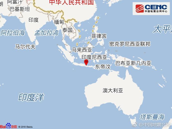 印尼今晨再次遭遇6级地震 已造成多人伤亡