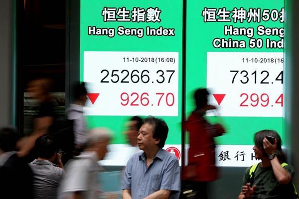 港股11日跌3.54% 收报25266.37点