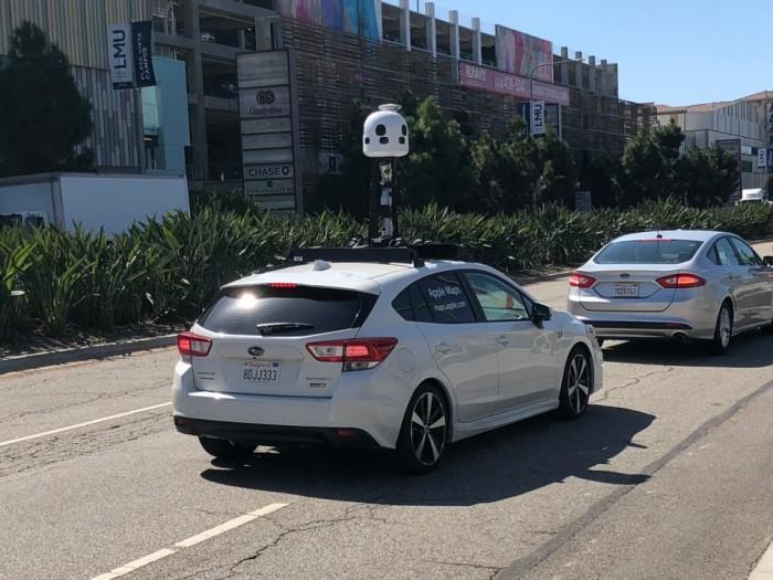 全新一代苹果地图数据采集车现身洛杉矶