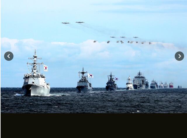 """韩国悬挂当年打败日本的""""将军旗""""出席国际观舰式,日防卫省抗议"""