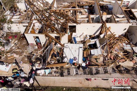 """飓风""""迈克尔""""袭美破坏巨大 保险索赔或达80亿美元"""