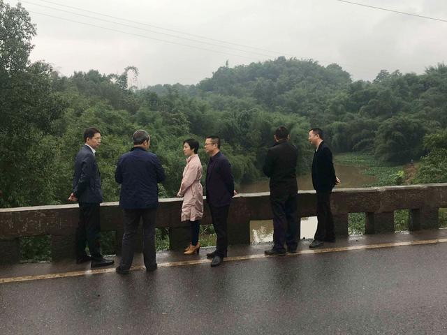 江安县委常委、县委办主任鲍国才到夕佳山镇开展巡河工作